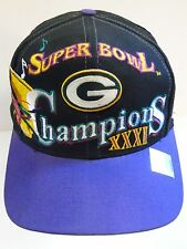 b4a1f8d4 Vintage 1997 GREEN BAY PACKERS SUPERBOWL XXXI CHAMPS SNAPBACK HAT Brett  Favre