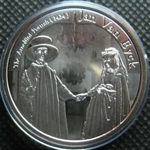 Belgium 10 Euro 2020 Silver Proof Coin Jan Van Eyck Flemish Painter
