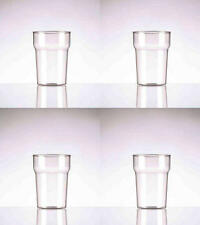 4 x Quality Unbreakable Polycarbonate  CE Marked 1 Pint Glasses Dishwasher Safe