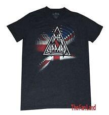 New Def Leppard Union Jack V Neck Retro Men's Vintage Classic 80's T-Shirt