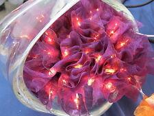 Centre de table guirlande lumineuse 50 roses prune   ! lampe bougie veilleuse