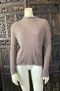 Vintage 100% Silk Ribbed Pullover Sweater Size Large