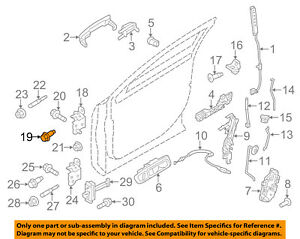 FORD OEM Front Door-Lower Hinge Upper Bolt W710603S439