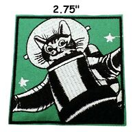Astronaut Cat Cartoon Embroidered DIY Clothes Decorative Applique Iron on Patch