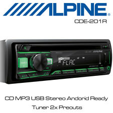 Alpine CDE-201R - CD MP3 USB Stereo Andorid Ready Tuner 2x Preouts Flac File
