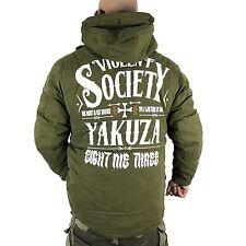 """YAKUZA - Parka Winterjacke WJB 9043 """"Violent Society"""" dusky green (oliv)"""