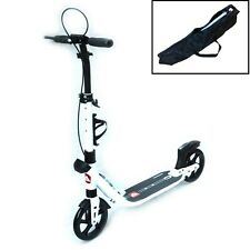 White Scooter Deluxe Push Scooter Commuter Scooter Dual Suspension Adult Kids