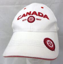 CANADA est 1867 baseball cap hat adjustable v white maple leaf logo