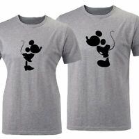 Minnie Mickey Matching Couples T-Shirt Men's Women's Graphic Tee Valentine's Day