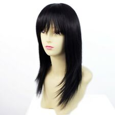 Remy Human Hair Natural Straight Heat Resistant Hair Off Black Ladies Wigs