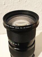 Canon Zoom Lens Macro FD 3,5/35-105mm #270402 Objektiv Adaptiv