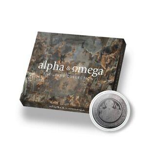 2021 Samoa The Jesus Collection Alpha & Omega Silver PF/Blk Rhodium Coin W/OMP