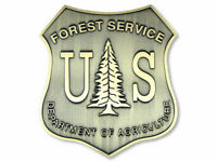 "US FOREST SERVICE 4"" BRONZE LOOK HELMET TOOLBOX STICKER DECAL MADE IN USA"