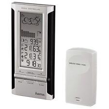 Wireless Weather Forecast Station Alarm Clock Hygrometer Temp Indoor & Outdoor