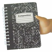 "Mini Composition Book for 18"" American Girl Doll Back-To-School Accessories"