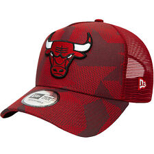 Era 9forty Chicago Bulls NBA Camo A-frame Baseball Trucker Cap Hat - Red