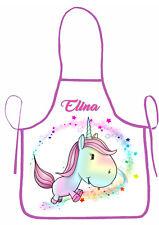 tablier de cuisine enfant licorne unicorn Einhorn personnalisé prénom réf 63