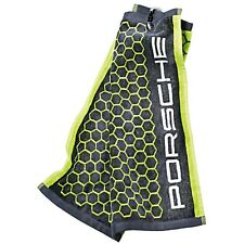 Porsche Logo Golf Towel Acid Green and Grey