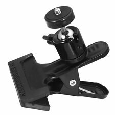 "Spring Clamp Clip Holder Mount with Ball Head w/ standard 1/4"" Screw for DSLR"