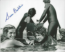 Jaws 1st Victim autographed 8x10 photo with Steven Speilberg in water