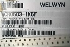 PARTIAL REEL 4500pcs+ WELWYN WCR 0603 3.6K 1% SMD RESISTORS