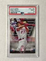 MIKE TROUT 2018 Topps Salute MOTHER'S DAY SP INSERT! PSA MINT 9! ANGELS!