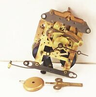 Vtg antique Seth thomas mechanical clock movement key weight part mantel clock
