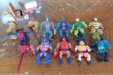 HE-MAN 8 figure Lot MOTU Vintage Masters of the Universe 1980s Vehicles Mattel