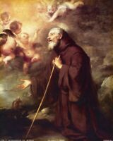 """Catholic print picture- VISION OF ST. FRANCIS 10-   8"""" x 10"""" ready to be framed"""
