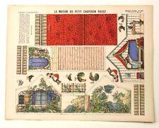 Pellerin Imagerie D'Epinal-No 341 La Maison du Petite Chaperon Rouge Paper model