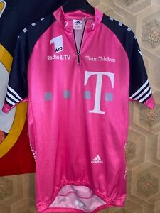 Vintage Adidas Pink Velo Cycling Jersey Mens Size M