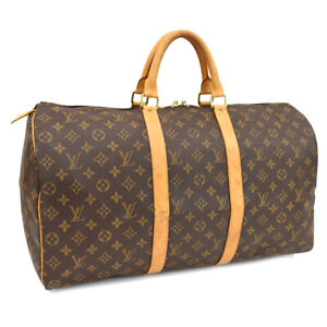 Auth LOUIS VUITTON Monogram Keepall 50 M41426 Traveling bag Brown Canvas
