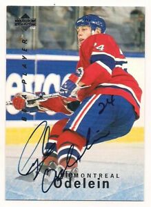 1995/96 Be A Player Auto Lyle Odelein Montreal Canadiens