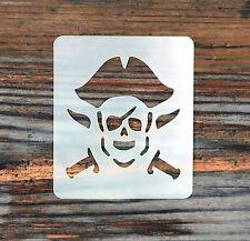 Pirate Face Painting Stencil 7cm x 6cm 190micron Washable Reusable