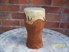 """Handmade African Hide Bongo Drum : 10""""."""