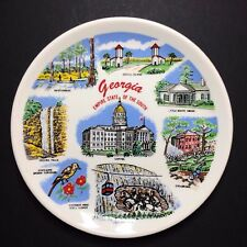 Vintage Georgia Empire State of The South Decorative Souvenir Plate 6""