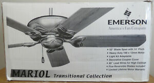"""Emerson Fan Co CF940ORB 52"""" Oil Rubbed Bronze Ceiling Fan Mariol Collection NIOB"""