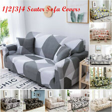 1/2/3/4 Seater Us Stretch Sofa Covers Printed Slipcovers for Living Room