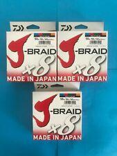 Daiwa J-Braid 150 Meter Multi-Color Line 50 LB J-Braid x 8
