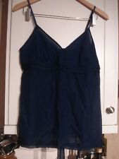 Bruuns Bazaar Blue Strappy Silk Top - Size 40 - never worn, still with tags