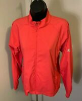 Adidas ClimaProof Wind Women's Pink Coral Full Zip Windbreaker Jacket Size S