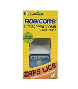 LiceGuard Robicomb Lice Zapping Comb Detects & Kills Lice + Eggs FREE SHIPPING