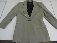 DKNY Essentials Rayon Blend Multi-Colored Lined 1 Button Blazer - Size - 6