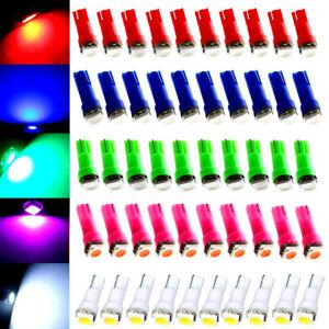 50pcs/Set T5 LED Speedometer Instrument Gauge Cluster Dash Light Bulbs Kits