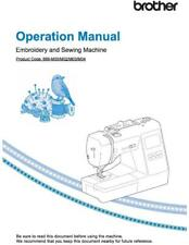 Brother Innov-is NS1750D Embroidery Sewing Machine Manual User Guide COLOR COPY