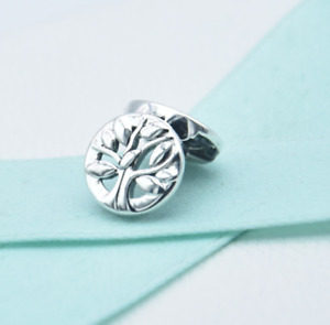 New PANDORA Reflexions Family Tree of Life Clip Charm Silver #797779 Authentic