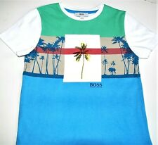 Boys Genuine Hugo Boss White Short Sleeve Cotton T-shirt J25A56 - 4,6,12,14y