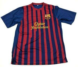 Lionel Messi FC Barcelona Soccer Jersey Size Medium Red Blue Dry Fit Shirt Men's