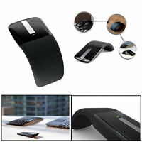2.4GHz Folding Arc Touch Wireless Mouse With USB Receiver For PC Laptop Desktop