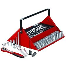 Teng Tools 187 Piece Mega Rosso 1/4in, 3/8in & 1/2in Socket Set Tool Kit TC187